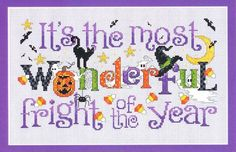 Wonderful Fright is the title of this cross stitch pattern from Sue Hillis.