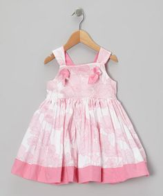 Take a look at this Pink Floral Knot A-Line Dress - Toddler & Girls by Petite & Posh on #zulily today!
