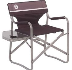 Coleman Camp Chair with Side Table Folding Beach Chair Portable Deck Chair for Tailgating, Camping & Outdoors. Portable deck chair ideal for camping, picnics, and patio barbeques. Folding Beach Chair, Folding Camping Chairs, Camping Table, Outdoor Camping, Camping Gear, Camping Outdoors, Folding Chairs, Outdoor Gear, Outdoor Gadgets