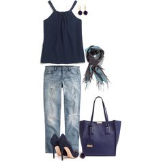 """""""The Beautiful Blues"""" by lisa-holt on Polyvore"""