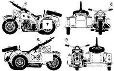 BMW R75 Year: About 1938 The R75 is a World War II-era