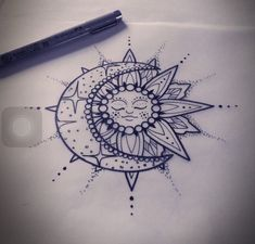 sun and moon tattoo sun and moon drawing, black and white sketch, mandala back tattoo, white background Finger Tattoos, Sun Tattoos, Trendy Tattoos, Forearm Tattoos, Unique Tattoos, Tattoos For Guys, Sleeve Tattoos, Tattoo Sun, White Tattoos