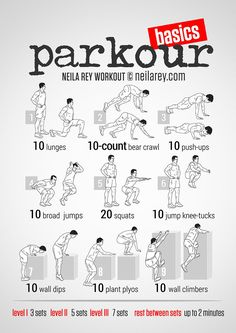 Gotta try this! Someday I really really wanna learn parkour. Gotta try this! Someday I really really wanna learn parkour. Parkour Workout, Workout Hiit, Neila Rey Workout, Parkour Moves, Workout Fitness, Body Fitness, Fitness Tips, Fitness Motivation, Health Fitness