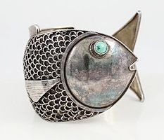 Vintage Sterling Fish Shaped Bracelet From Peru With Link Follow To  Sterling 925.Net