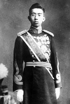 Emperor Hirohito as a young prince. He remained the incarnation of the deity as Japan plunged into WW2 and was allowed to remain on his throne after the Americans took control of Japan.