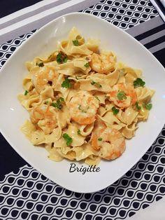 Tagliatelles aux crevettes et au parmesan | Recettes Cookeo