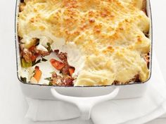 Vegetable Shepherd's Pie- instead of the crumbles, I will use portobello mushrooms either diced or sent through a grinder.