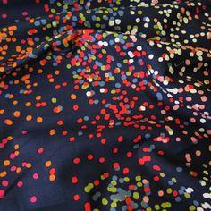 Dear Stella Sprinkles Indigo Cotton Fabric | Guthrie & Ghani
