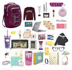 back to school by on Polyvore featuring polyvore, The North Face, Speck, Kate Spade, Glam Bands, Fitbit, NARS Cosmetics, Bare Escentuals, Maybelline, Eos, Tangle Teezer, Beats by Dr. Dre, Lilly Pulitzer, Sharpie, Accessorize, fashion, style and clothing