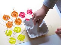 Egg carton stamps are an easy way for painting projects!