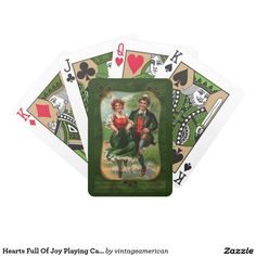 Hearts Full Of Joy Playing Cards