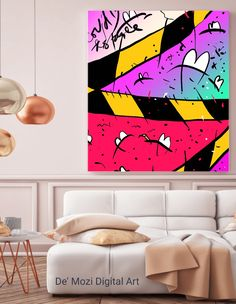 Mural Painting, Mosaic, Digital Art, Wall Art, Abstract, Prints, Home Decor, Summary, Decoration Home