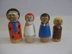 Caveman peg doll set by IGotyouPegged on Etsy