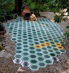 Great tiles for a hidden garden | jebiga | #ground #tiles #garden #outdoor #design #jebiga