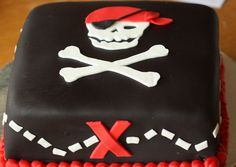 Simple pirate cake...but in his favorite color?