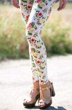 Spring Time Floral Leggings