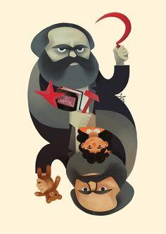 Karl Marx illustration.