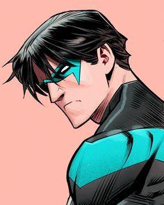 Dick Grayson in Batgirl Batgirl, Catwoman, Dc Comics Heroes, Arte Dc Comics, Dc Comics Characters, Damian Wayne, Comic Books Art, Comic Art, Book Art