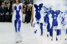 Match #375 Céline Spring 2017 | Anthropométrie de l'époque bleue (ANT 82) by Yves Klein, 1960.