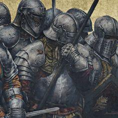 Medieval Knight, Medieval Armor, Medieval Fantasy, Armadura Medieval, High Fantasy, Dark Fantasy Art, Armor Concept, Concept Art, Fantasy Character Design