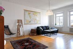 Minimalist with a vintage flair apartment concept.