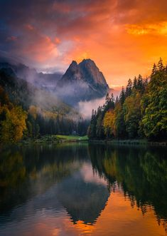 Evening light, Riessersee, Zugspitze, minutes after sunset. Bavaria, Germany - by Dag Ole Nordhaug Mountain Photography, Amazing Photography, Landscape Photography, Nature Photography, Germany Photography, Sunrise Photography, Scenic Photography, Landscape Photos, Photography Photos