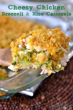 Cheesy Chicken Broccoli and Rice Casserole -Mom On Timeout