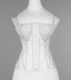 Corset owned by Elizabeth Southard, Met Museum, c. 1830-1835 - OK, so it's pre-Civil War.  It's still an example of a corset with straps.