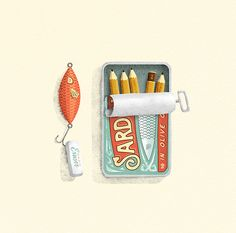 Sardines in olive oil on Behance