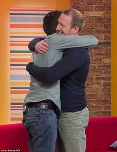 'I've found Mike!' Suicidal man whose life was saved by a stranger six years ago is reunited with him after global Twitter campaign #FindMike  Jonny Benjamin was going to jump off Waterloo Bridge in 2008  This week the 26-year-old was reunited with the person who saved his life Neil Laybourn, 31, from Surrey, persuaded Mr Benjamin not to jump