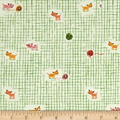 Designed by Heather Ross for Windham Fabrics, this cotton print is perfect for quilting, apparel and home decor accents. Colors include green, shades of pink, coral, brown, shades of orange and white.