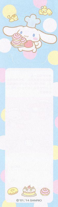 Sanrio 100 Characters Memo - Cinnamoroll