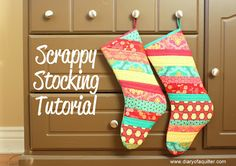 Fat Quarter Gang - Scrappy Christmas Stockings by Diary of a Quilter - Art Gallery Fabrics