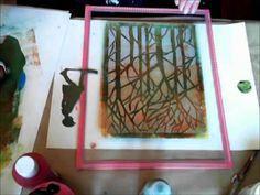 Monoprint on Gelliplate: this is Gorgeous! I would love to do this.