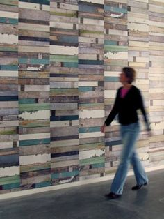 Recycled wood cladding