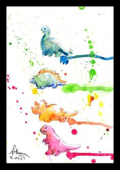 dinosaurs watercolour - Google Search