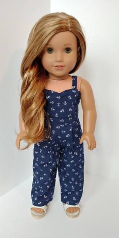 Excited to share the latest addition to my #etsy shop: 18 inch doll clothing. Fits like American girl doll clothes .18 inch doll clothes. Navy anchor jumper #toys #dollclothes #dresses #blue #18inch #tanktop #dollclothing#romper#jumper https://etsy.me/2xUYRnQ