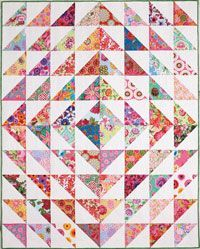 Beacon of Hope Pattern from ShopFonsandPorter.com HSTs and you have a wonderful pattern. I love the play on the square set on point effect.