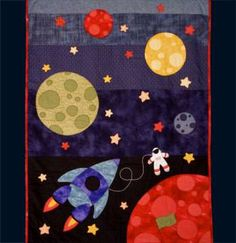 Spacewalk - By Matching Pegs - Kids Quilt and Patchwork Pattern