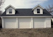 Custom Reverse Gable Garage with Gable Dormers Custom Garages, Dream Garage, Garage Doors, Shed, Outdoor Structures, Building, Outdoor Decor, Backyard Sheds, Buildings
