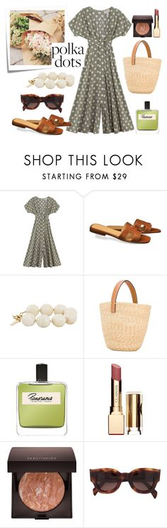 """""""Polka Polka"""" by petra0710 ❤ liked on Polyvore featuring Mara Hoffman, Post-It, Moschino Cheap & Chic, Ermanno Scervino, Olfactive Studio, Clarins, Laura Mercier and CÉLINE"""