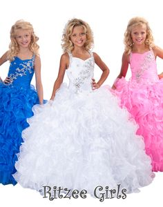 Sparky Girls Pageant Dresses for Little Miss Dress Puffy Skirt Beading Straps Ruffles Sequins Kids Girls Formal Occasion Princess Ball Gowns Pagent Dresses, Little Girl Pageant Dresses, Pageant Gowns, Ball Dresses, Girls Dresses, Dresses 2013, Glitz Pageant, Quinceanera Dresses, Formal Dresses