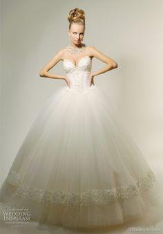 whitedream:  By Oksana Mukha Follow my tumblr for more beautiful wedding dresses (:   www.pinterest.com/JessicaMpins/