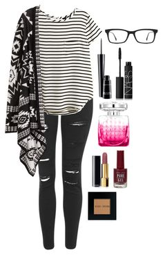 """Untitled #191"" by andrewsac ❤ liked on Polyvore featuring Topshop, H&M, Jimmy Choo, MAC Cosmetics, NARS Cosmetics, Chanel, Bobbi Brown Cosmetics and Ray-Ban"