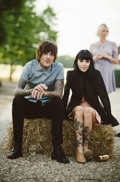 Oliver Sykes & Hannah Pixie Snowdon. I love seeing them together, they make such a great couple.