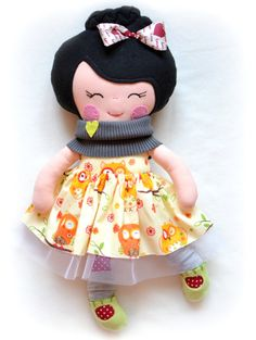 Handmade Cloth Doll, Soft doll, Princess doll, Toddler gift, Rag doll with owl… Toddler Gifts, Gifts For Kids, Etsy Handmade, Handmade Gifts, Dress Up Dolls, Waldorf Dolls, Soft Dolls, Plush Dolls, Fabric Dolls