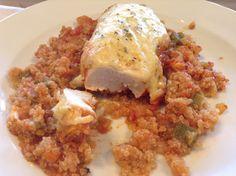 Panelinha de Sabores: Peito de frango com quinoa no forno Quando os meu... Paleo, Vegan, Healthy Recipes, Healthy Food, Quinoa, Grains, Rice, Cooking, Diabetes