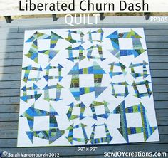 Liberated Churn Dash Quilt Pattern ~ A Giveaway — Fresh Lemons Modern Quilts