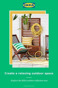 Ikea Outdoor, Diy Outdoor Furniture, Outdoor Tables, Dining Furniture, Outdoor Living, Outdoor Decor, Outdoor Patios, Outdoor Gardens, Folding Beach Chair