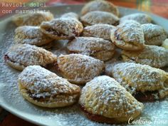 Ravioli dolci con marmellata